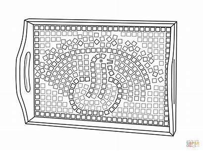 Mosaic Coloring Pages Christmas Printables Roman Colouring