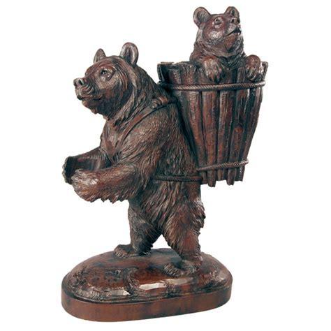 Trudging Mama Bear Sculpture   Burlwood