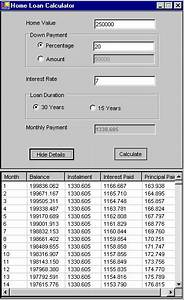 Calculating Interest Payments Mortgage Calculator In C