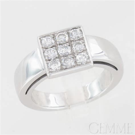 bague or blanc diamants taille moderne