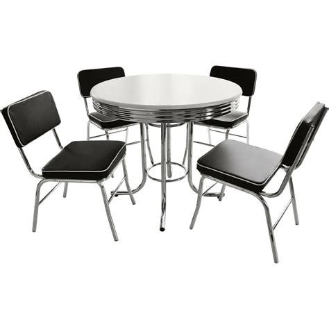 Black And White Dining Table Set by Black And White Retro Dining Table And Chairs Set Ebay