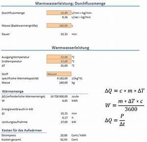 Erwärmung Wasser Berechnen : physik boiler warmwasserspeicher oder durchlauferhitzer erhard rainer ~ Themetempest.com Abrechnung