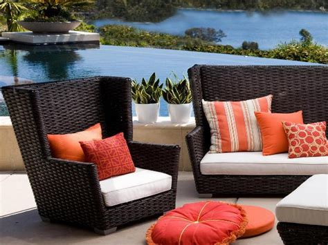 patio comfortable patio furniture brown and black square