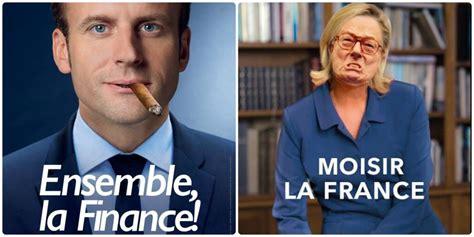 les nouvelles affiches electorales de macron  le