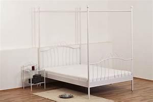 Himmelbett Weiß 120x200 : himmelbett metallbett doppelbett wei liegefl che 100 x 200 cm ebay ~ Indierocktalk.com Haus und Dekorationen