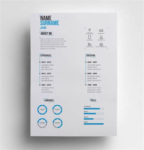 Interactive Resume Templates Free by 35 Best Free Resume Design Templates Themecot