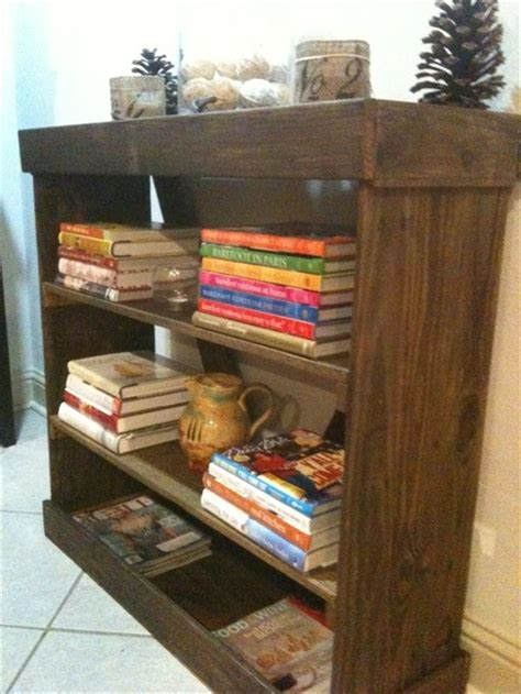 diy bookshelf ideas  pallet wood