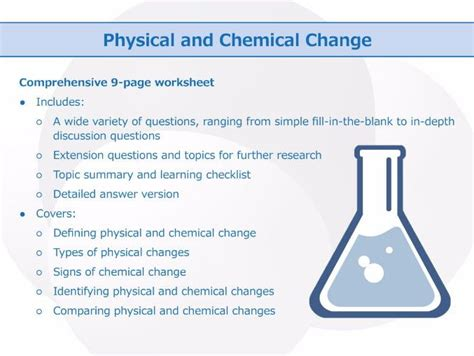 Physical And Chemical Change [worksheet] By Goodscienceworksheets  Teaching Resources Tes