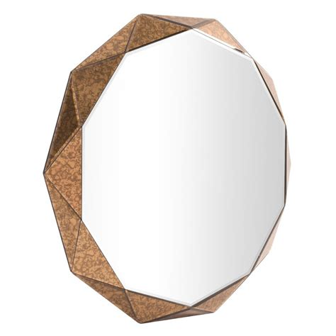 faceted panels wall mirror allmodern