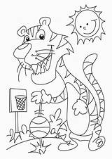 Tiger Coloring Pages Easy Tulamama sketch template