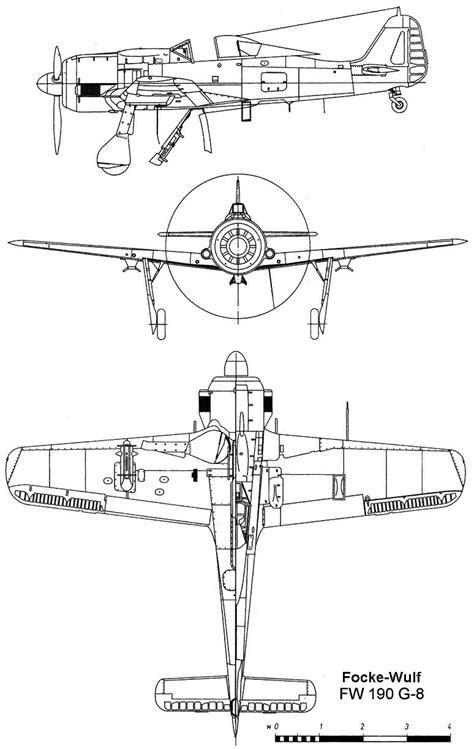 Focke-Wulf Fw 190 Blueprint - Download free blueprint for