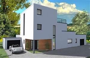 couleur maison construction maitrise d39oeuvre bureau d With exemple plan de maison 2 couleur maison construction etude maison cubique azur