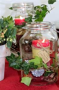 Weckgläser Weihnachtlich Dekorieren : dekorierte weckgl ser als windlichter tischdecke sander ~ Watch28wear.com Haus und Dekorationen