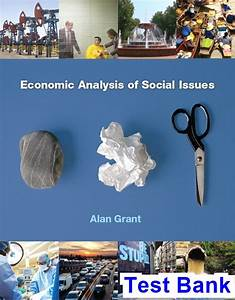 Economic Analysis Of Social Issues 1st Edition Alan Grant