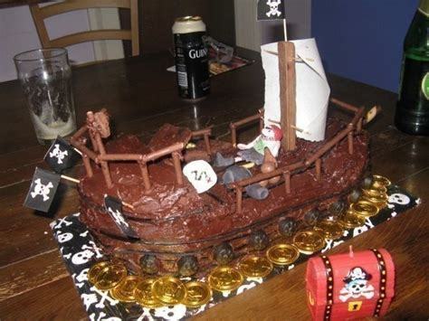 pirate ship cake  character cake food decoration