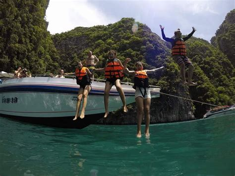 Boat From Phuket To Phi Phi by Phuket Snorkeling Tours To Phi Phi Island Bamboo Island