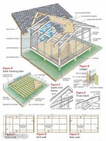 house plans with screened porch screen porch construction the family handyman