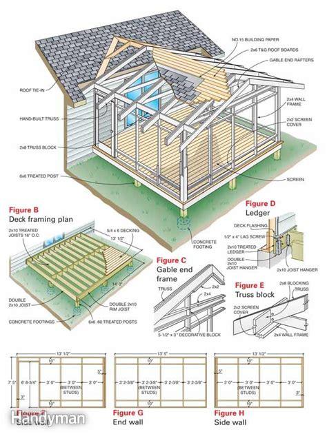 porch building plans on top of deck roof building plans specs price release