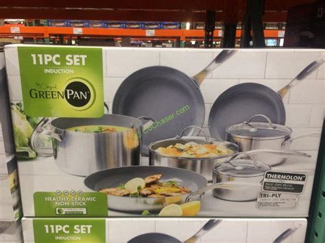 greenpan pc stainless steel tri ply cookware set