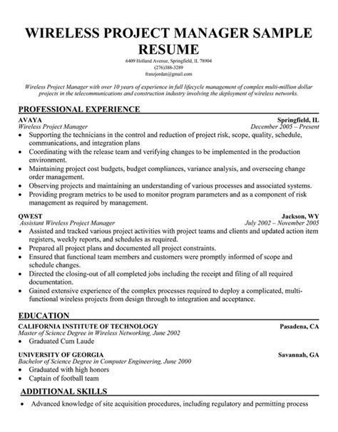 Release Project Manager Resume by Free Software Release Program Manager Resume Mediagetadam