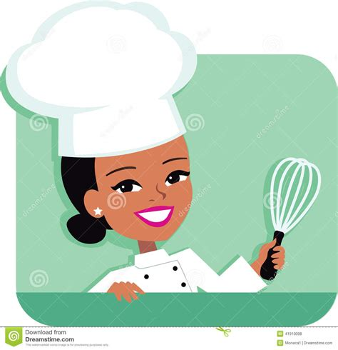 chapeau cuisine kitchen chef illustration of holding stock