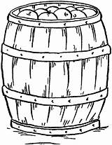 Barrel Apple Clip Fairy Graphics Line Drawing Thegraphicsfairy Coloring Pages sketch template
