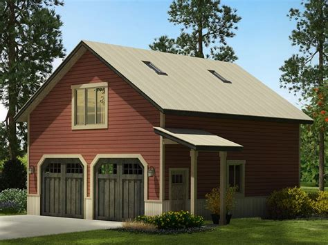Garage With Loft by Garage Plans With Loft Country Style 2 Car Garage Plan