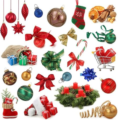 a variety of christmas items definition picture free stock