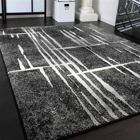 designer teppich modern trendiger kurzflor teppich  grau
