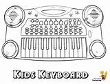 Coloring Keyboard Piano Printable Musical Instrument Yescoloring Mighty sketch template