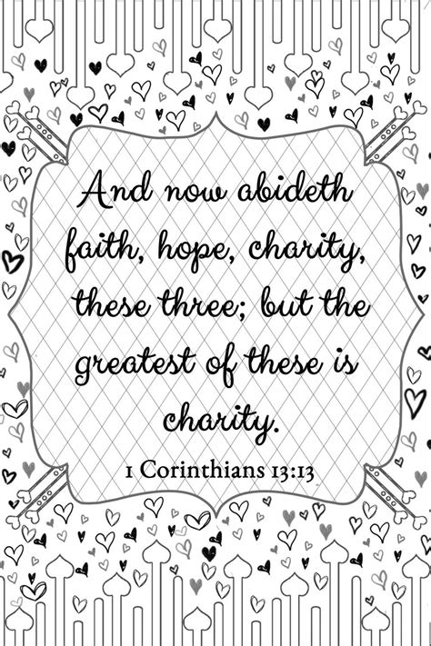 corinthians  love adult coloring page  fidbycourtney recovery  pinterest