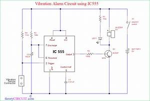 Vibration Alarm Circuit Using Ic555