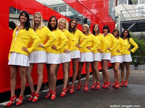 grid girls  belgium gp