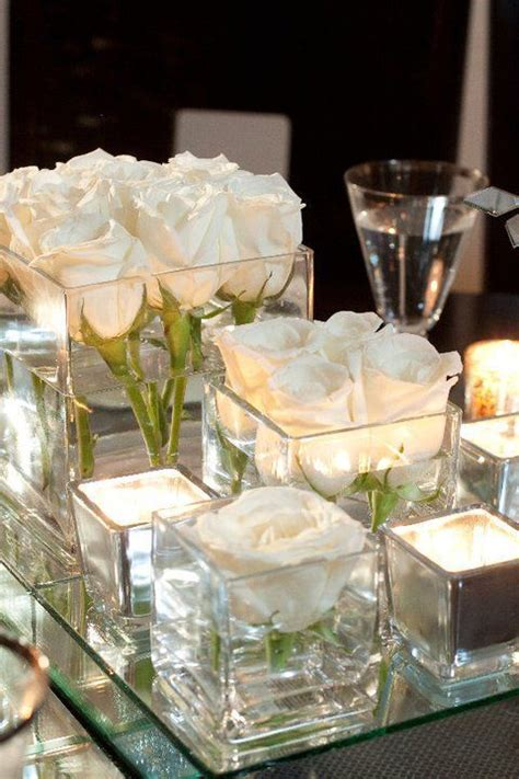 centre de table carre mariage un centre de table avec des miroirs d 233 corations de f 234 te