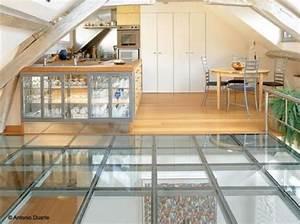 les 25 meilleures idees de la categorie plancher en verre With toit en verre maison 7 brique de verre wikipedia