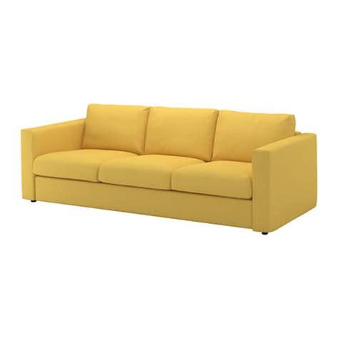 vimle sofa  plazas orrsta dorado ikea