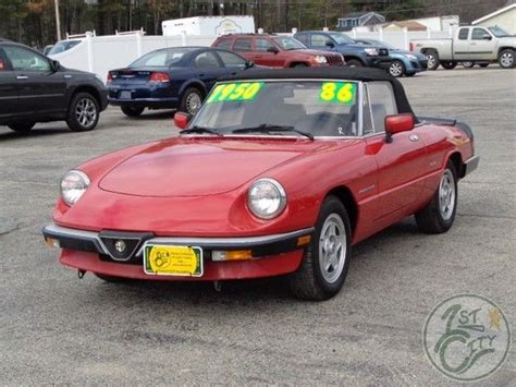 1986 Alfa Romeo Spider Veloce For Sale