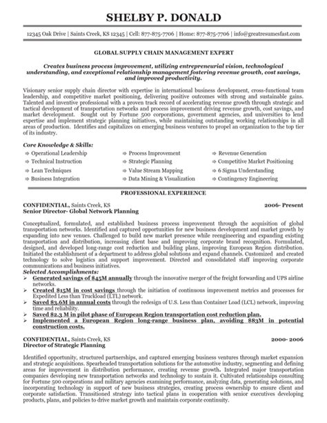 global supply chain manager resume for free