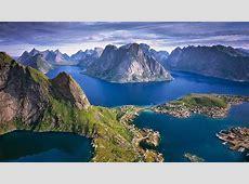 Beautiful View Of The Height Lofoten Islands Norway
