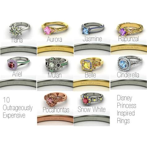disney princess inspired rings aurora and rapunzel are my