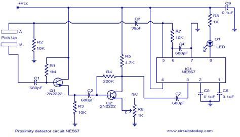 proximity detecter circuit sensors   circuit