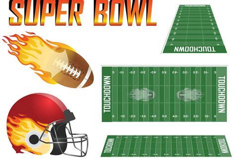Super Bowl Vector Set Download Free Vectors Clipart
