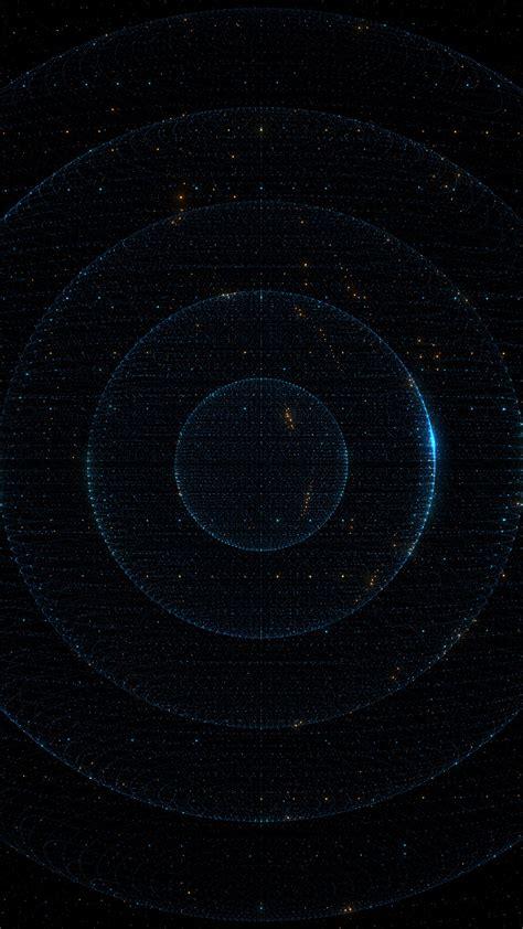 wallpaper particles dark circles hd  abstract