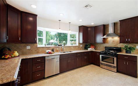 shaker beech kitchen cabinets beech espresso premium cabinets 5153