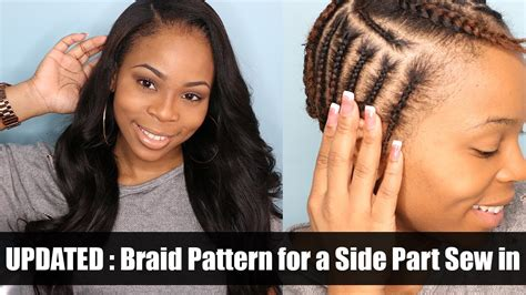 Braiding Pattern For A Side Part With Leave Out