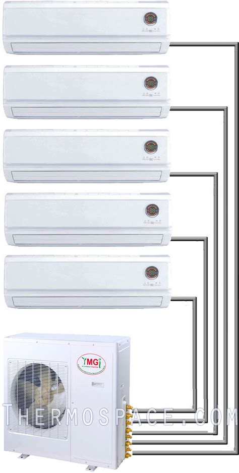 5 ton quint zone ductless air conditioner heat