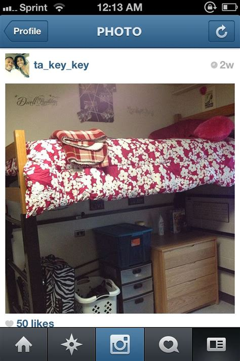 lofted dorm bed  ecu great  extra storage