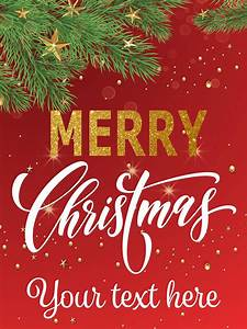 "18"" x 24"" ""Merry Christmas"" Retail Poster   Seasonal Banner  Merry"