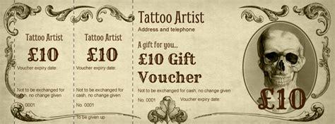 voucher design tattoo  body piercing gift vouchers