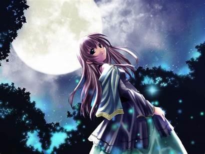 Anime Wallpapers Moon Background Pretty Manga Pixelstalk